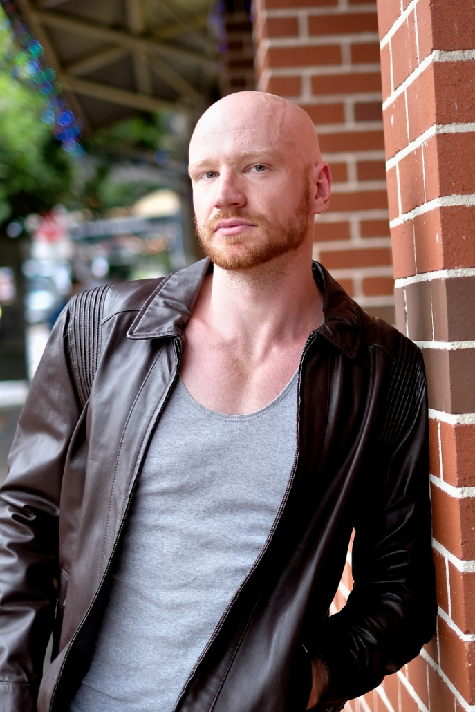 Online dating photo Leather jacket